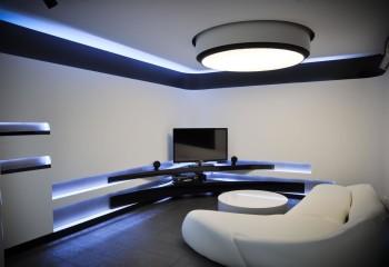 Светодиодное освещение в нишах создает в пространстве интересные акценты