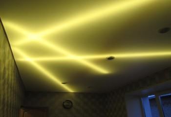 Геометрические фигуры на потолке
