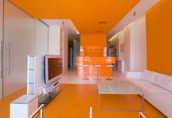 Интерьер в стиле «апельсин»