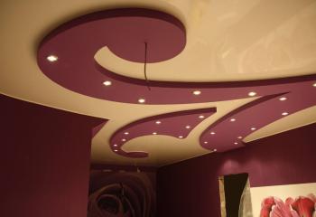 Комбинированный потолок с объёмной фигурой