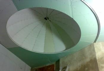 Потолок, готовый к финишной отделке