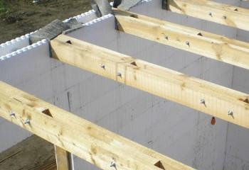 Балочное перекрытие в доме из ячеистого бетона