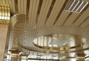 Фигурные потолки из алюминиевой рейки