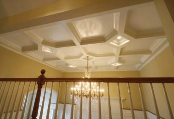 Сочетание форм в кессонных потолках