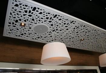 Подвесной потолок из фрезерованной плиты