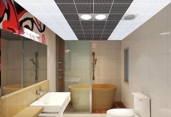 Алюминиевый перфорированный потолок кассетного типа