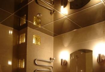 Такой материал отлично подходит для ванных комнат
