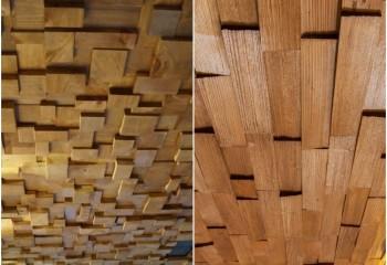 Форма и расположение брусков позволяет визуально скорректировать параметры помещения
