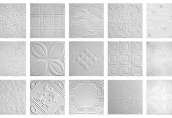Разнообразие потолочных плиток