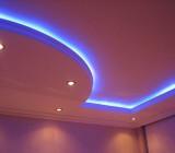Светодиодная лента для натяжных потолков – мягкий и уютный источник света