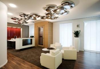 Оригинальные дизайнерские светильники потолочные в гостиной