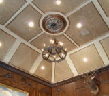 Декоративные материалы для отделки потолка: чем облицевать основание