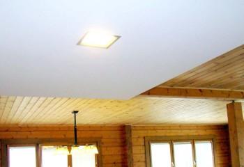 Выделение функциональных зон с использованием разных видов потолочной отделки