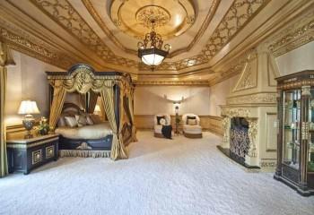 Дизайн потолков с лепниной в спальне