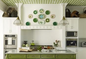 Пластиковый потолок в клетку – для кухни с стиле прованс