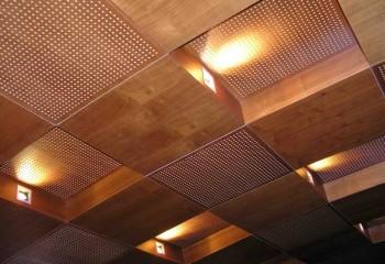 А это уже акустический потолок из МДФ