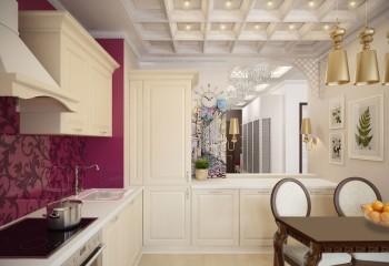 Кессоны в дизайне кухни