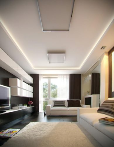 Простой гипсокартонный потолок
