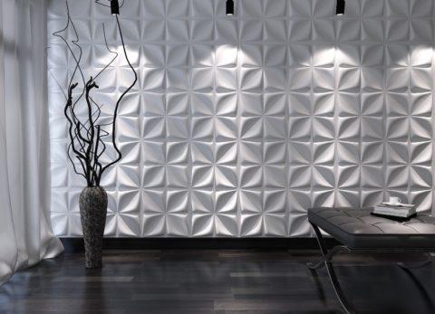 3d потолочная плитка на стене