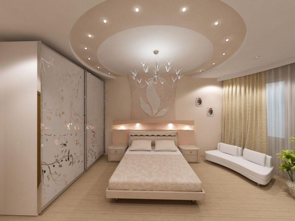 Красивый многоуровневый потолок с подсветкой