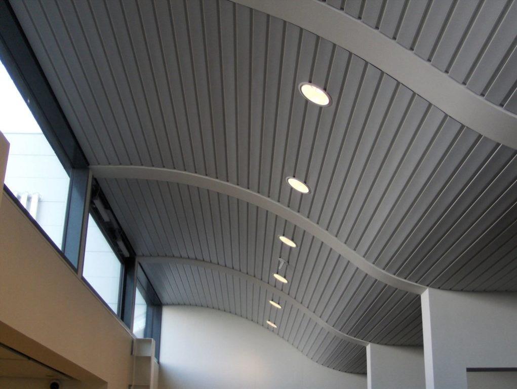 Матовые реечные потолки на вокзале