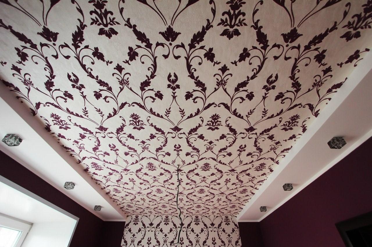 того, как как обклеить потолок разными обоями фото болезненный фурункул