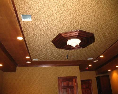 Оригинальный тканевый потолок