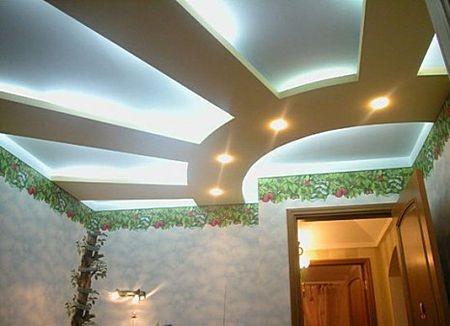 Освещение на матовом потолке