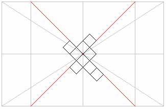 Диагональное расположение плитки