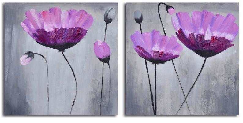 Цветочная тема для пурпурного и фиолетового интерьера