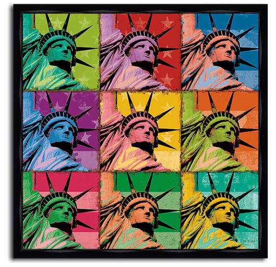 Для голубого поп-арта с темой Нью-Йорка