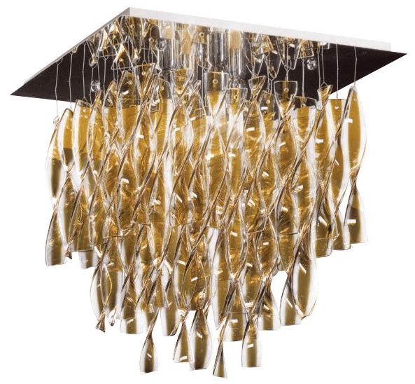 Люстра для украшения обеденной зоны или гостиной с прямоугольными гипсокартонными конструкциями
