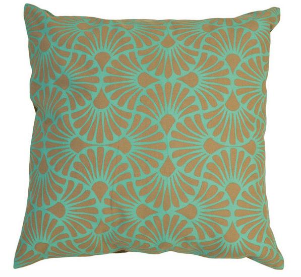 Подушка для шеби-шик в перечных и цвета морской волны оттенках