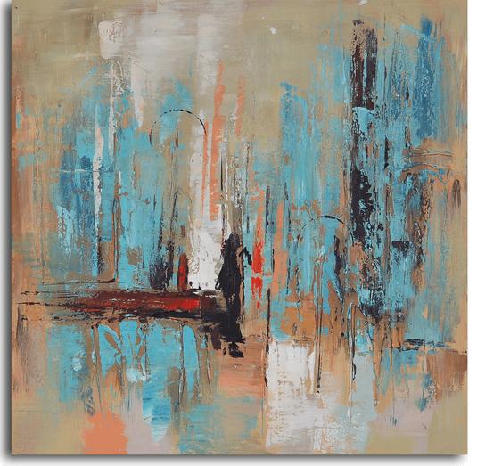 Для голубого авангарда импрессионистская картина в бирюзовых тонах