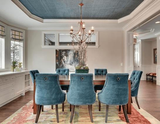Дымчато-синий текстильный для уютного интерьера