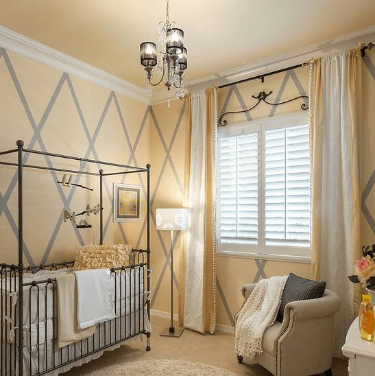 Французская элегантность стиля комнаты малыша