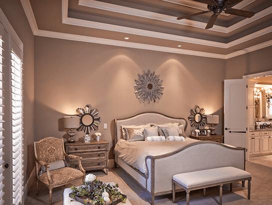 Мягкое рассеивание света для спальни –главное правило подбора освещения