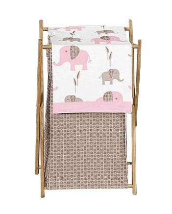 Корзинка для игрушек девочки (для серого, коричневого дизайна с розовым декором)