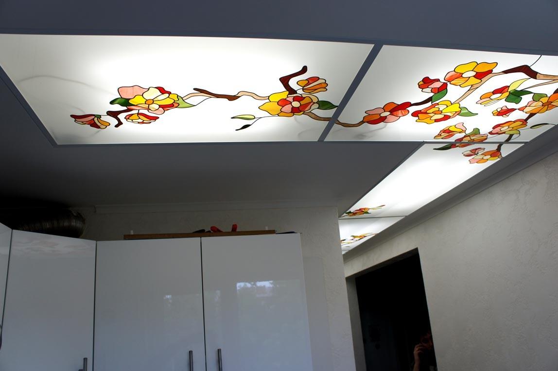 варианты стеклянный потолок с фотопечатью писатель