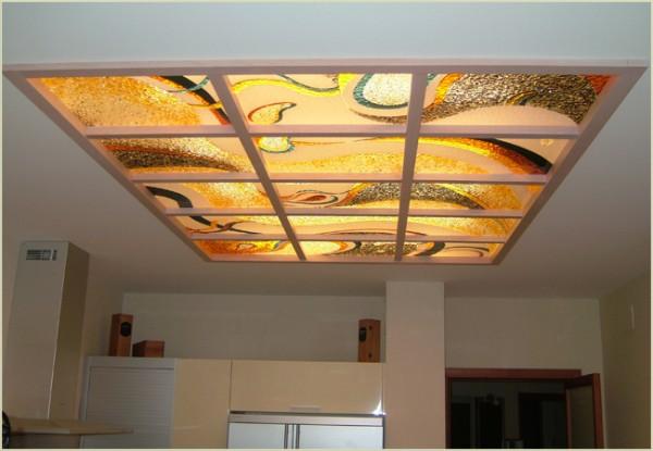 Акриловый потолок с фотопечатью
