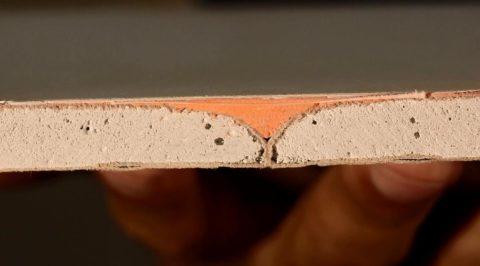 Армированный шов между листами с кромками ПЛУК