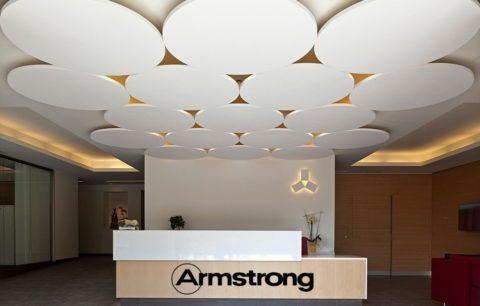 Армстронг – ведущий производитель подвесных стекловолоконных потолков