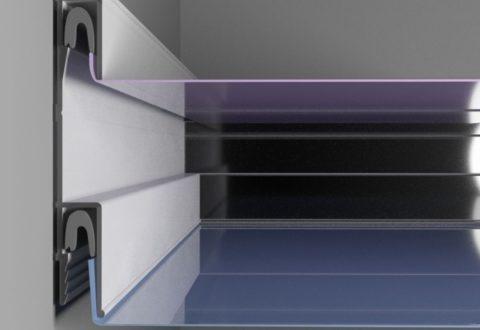 Багет для трехмерных эффектов позволяет монтировать несколько пленок на разных уровнях