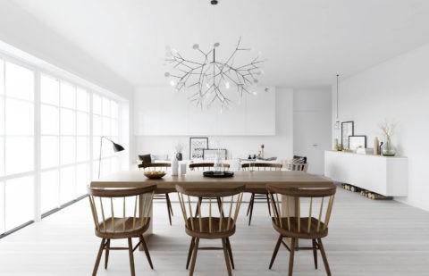 Белый потолок – неотъемлемая часть скандинавского дизайна