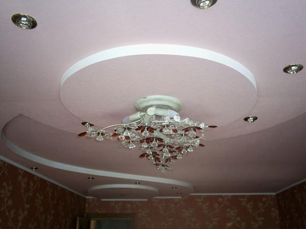 Маскировочная лента на гипсокартонном потолке