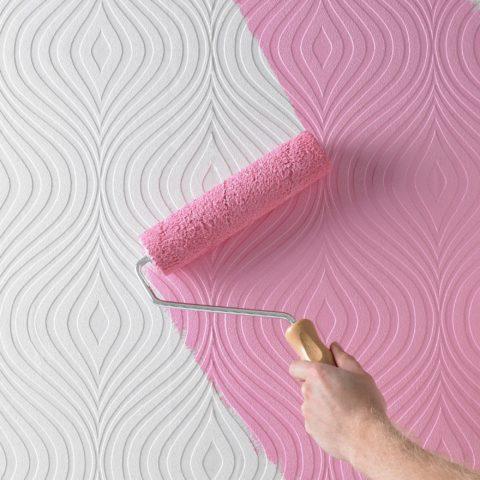 Чтобы прокрасить рельефный рисунок рекомендуется использовать мягкий валик с густым ворсом