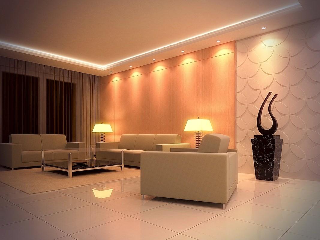 Дизайн навесных потолков освещение фото