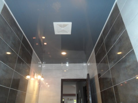 Чтобы ванная не выглядела мрачной, необходимо использовать на стенах белую или светлую глянцевую плитку