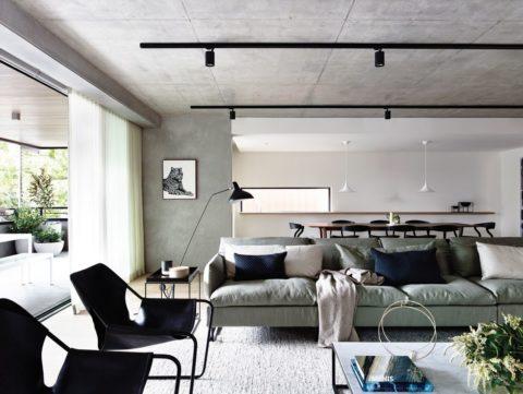 Декоративное оформление под бетон, тоже, по сути, матовая поверхность
