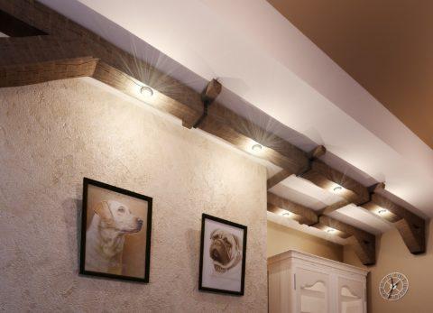 Декоративные элементы по периметру помещения в качестве источника освещения
